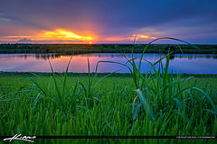 Sunset at Lake Okeechobee from South Bay