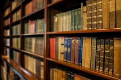 A long bookshelf