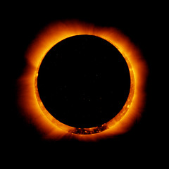 An image of an annular solar eclipse