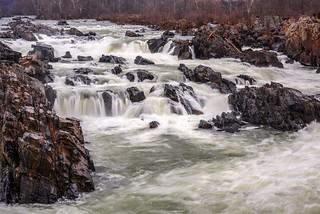 A stream flowing through rocks